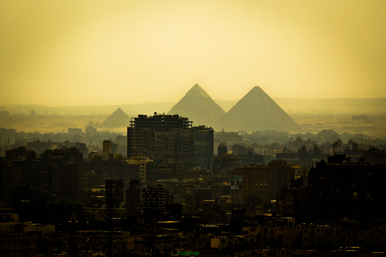 Pyramids of Giza & the Sphinx.